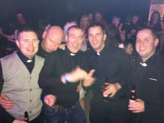 L-R: Ollie, Ciaran, Kevin, Kevin, Declan, Kevin. Their highlight was the Fr. Ted House.